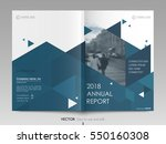 cover design annual report... | Shutterstock .eps vector #550160308