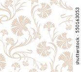 beautiful stylized carnations... | Shutterstock .eps vector #550163053