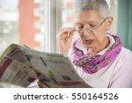 old senior woman having... | Shutterstock . vector #550164526