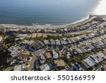 Small photo of Aerial of ocean view Los Angeles homes in Pacific Palisades.