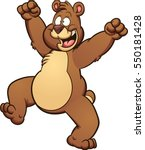 happy cartoon bear. vector clip ... | Shutterstock .eps vector #550181428