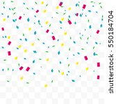 colorful confetti falling on... | Shutterstock .eps vector #550184704