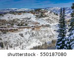the wasatch mountain range... | Shutterstock . vector #550187080