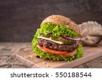 delicious fresh burgers with...