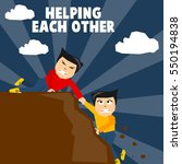 helping each other illustration ... | Shutterstock .eps vector #550194838
