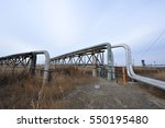 the pipe and valve oil fields  | Shutterstock . vector #550195480