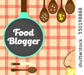 food blog  recipes website... | Shutterstock .eps vector #550198888
