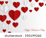 happy valentines day card.... | Shutterstock .eps vector #550199260