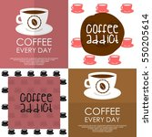 coffee lover  coffee addict t... | Shutterstock .eps vector #550205614