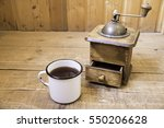 Manual Coffee Grinder And A Cu...