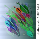 leaf vector background among... | Shutterstock .eps vector #550214644