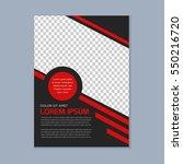 simple modern business brochure ... | Shutterstock .eps vector #550216720