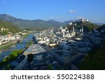 hohensalzburg fortress and old... | Shutterstock . vector #550224388