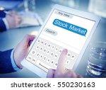 stock market investment finance ... | Shutterstock . vector #550230163