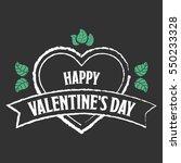 valentines day vector | Shutterstock .eps vector #550233328
