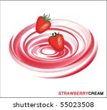 strawberry ice cream design...   Shutterstock .eps vector #55023508