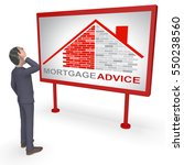 mortgage advice character...   Shutterstock . vector #550238560