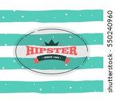 hipster logo concept | Shutterstock .eps vector #550240960
