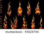 vector set of tattoo flames