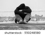 homeless person poverty issue | Shutterstock . vector #550248580