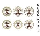 circle oak tree nature... | Shutterstock .eps vector #550260958