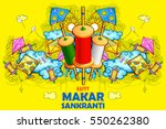 illustration of happy makar... | Shutterstock .eps vector #550262380