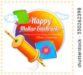 illustration of happy makar... | Shutterstock .eps vector #550262398