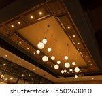round ceiling lamp  modern... | Shutterstock . vector #550263010