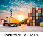 empty container handler with... | Shutterstock . vector #550265176
