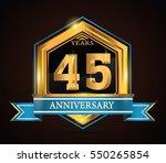 45 years anniversary hexagonal...   Shutterstock .eps vector #550265854