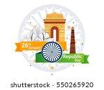 republic day  26 january .  | Shutterstock .eps vector #550265920