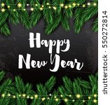 happy new year. greeting card... | Shutterstock . vector #550272814