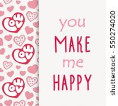 hearts card  can be used for... | Shutterstock .eps vector #550274020