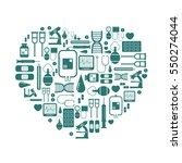 medical equipment icons set... | Shutterstock .eps vector #550274044