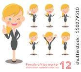 blonde female office work...