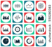 set of graphs  diagrams and... | Shutterstock .eps vector #550280383