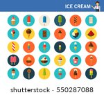 ice cream concept flat icons. | Shutterstock .eps vector #550287088