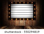 vintage message board with... | Shutterstock . vector #550294819