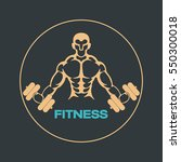 fitness logo vector icon design | Shutterstock .eps vector #550300018
