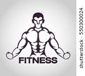 fitness logo vector icon design | Shutterstock .eps vector #550300024