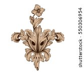 vintage baroque ornament retro... | Shutterstock .eps vector #550306954