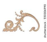 vintage baroque ornament retro... | Shutterstock .eps vector #550306990