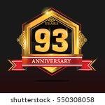 93 years anniversary shiny...   Shutterstock .eps vector #550308058