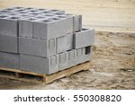 a pallet of cinder blocks on a... | Shutterstock . vector #550308820