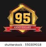 95 years anniversary shiny...   Shutterstock .eps vector #550309018