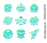 thank you text lettering vector ... | Shutterstock .eps vector #550314070