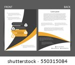 vector business flyer  magazine ...   Shutterstock .eps vector #550315084