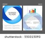 vector business flyer  magazine ... | Shutterstock .eps vector #550315093