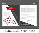 vector business flyer  magazine ...   Shutterstock .eps vector #550315138