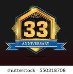 33 years anniversary shiny...   Shutterstock .eps vector #550318708